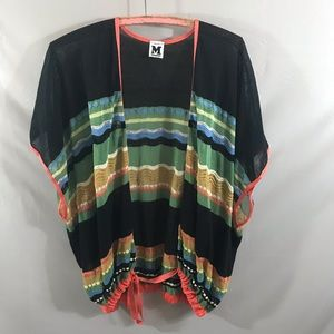 M Missoni short sleeve front tie coverup top for sale